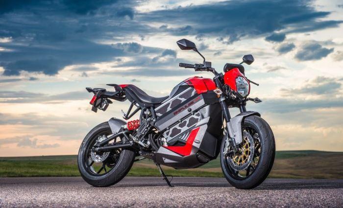 Первый полностью электрический мотоцикл.