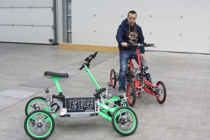 EV4 - экстремальный скутер для города.