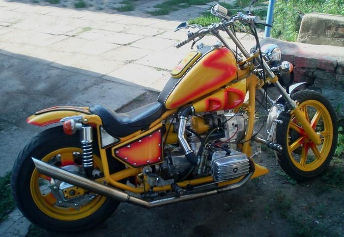 Мотоцикл Днепр-11 люкс. Знай наших.