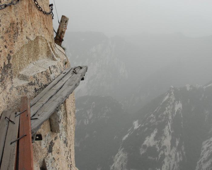 Гора Хуашань - Шеньсі, Китай.