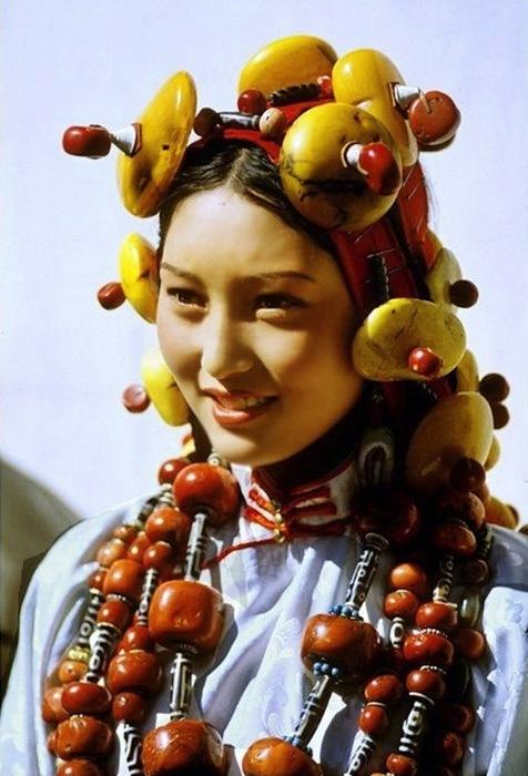 Представительница народность Кхам .