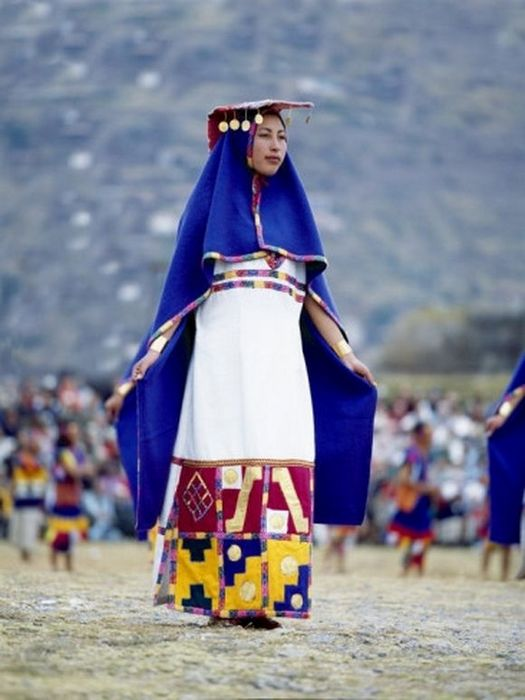 Перуанка на фестивале.