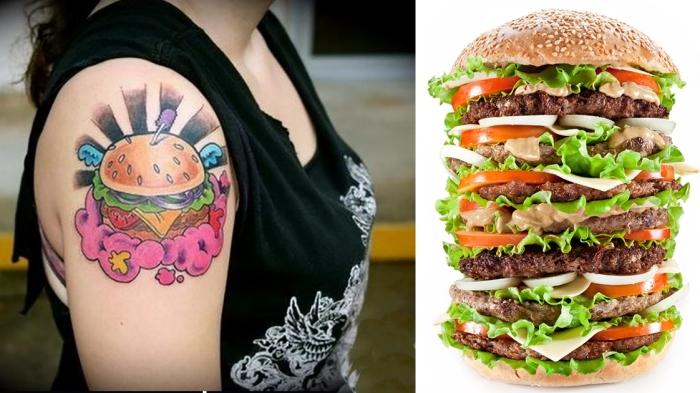 Тату за гамбургер.