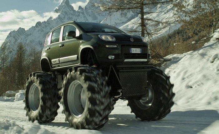 Рекламный монстр-трак Fiat.
