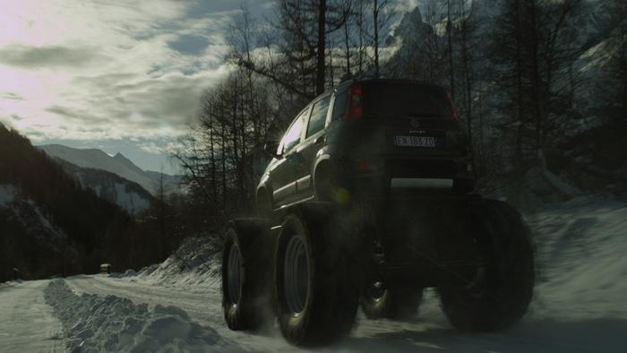 Fiat Panda: монстры на дороге.