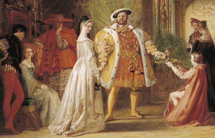 Генрих VIII и Анной Болейн.