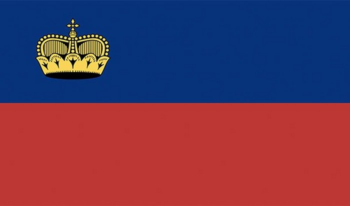 Флаг Лихтенштейна.