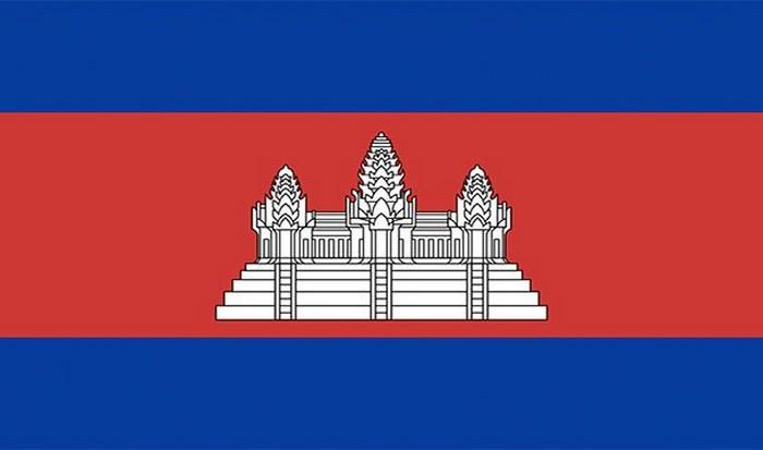 Флаг Камбоджи.