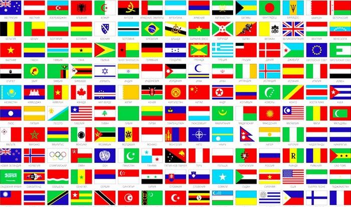 Флаги государств мира.