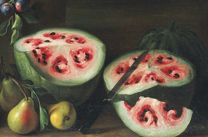 Генетически модифицированный древними арбуз.
