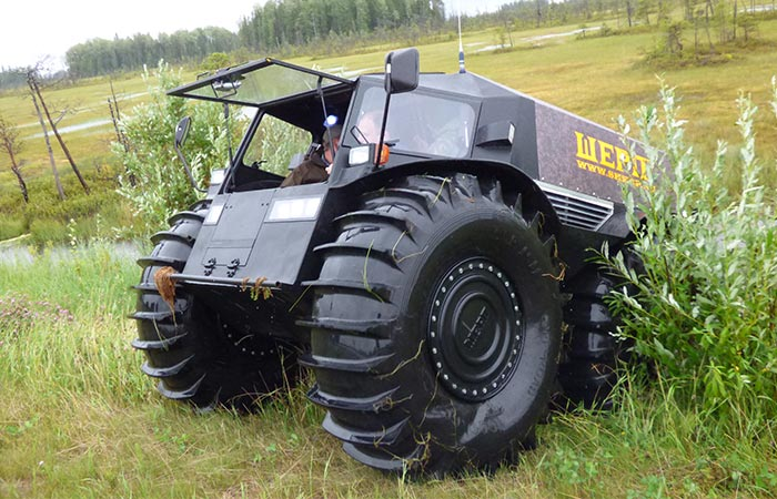 Стальной кузов  Шерпа весит 1 300 кг.