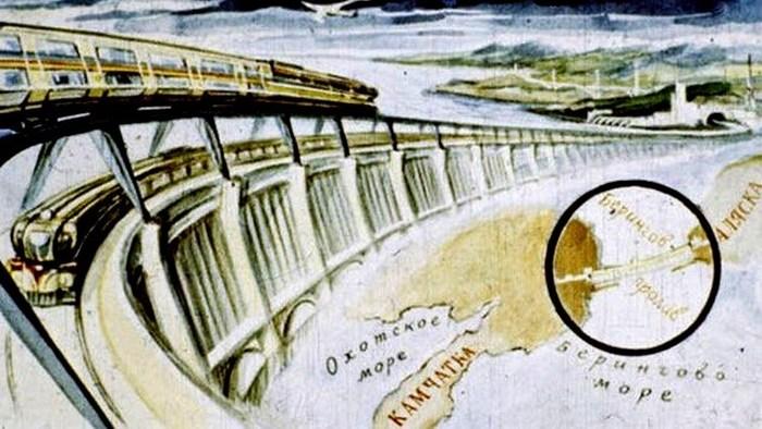 Футуристичное предсказание: плотина между СССР и США.