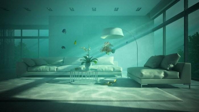 Футуристичное предсказание: подводное жилье для любителей водных видов спорта.