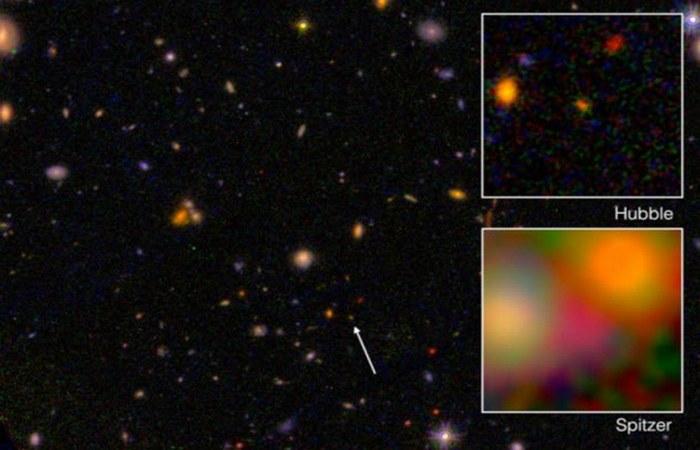 Теоретически невидимая галактика EGS8p7.