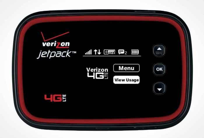 Экстренная точка доступа Verizon Jetpack.