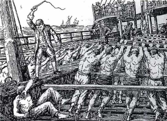 В Средние века на одном весле было до 7 человек. ¦Фото: naukatehnika.com.