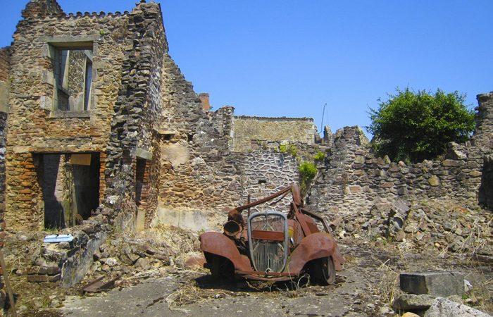 Деревня-призрак Орадур-сюр-Глан.