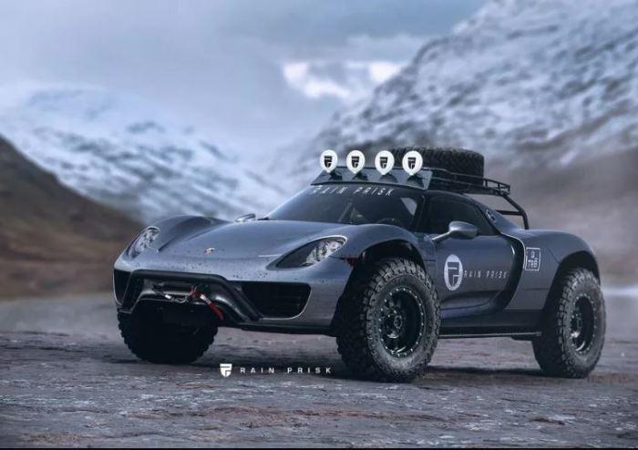 Роскошный Porsche 918 стал брутальным.