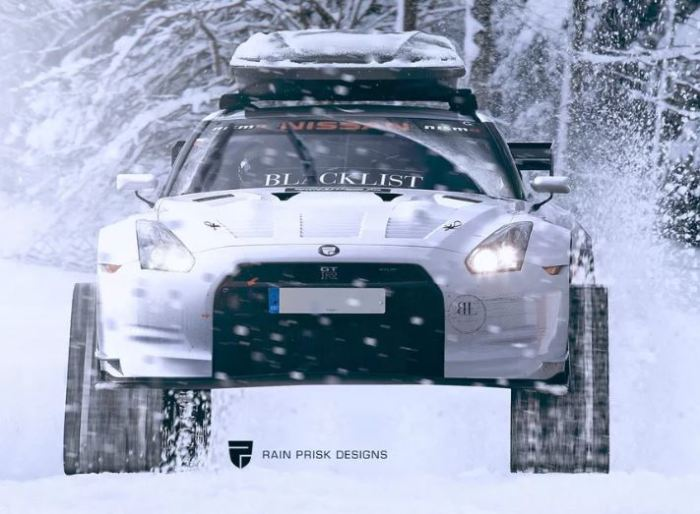 Удивительный Nissan GT-R превратили в вездеход.