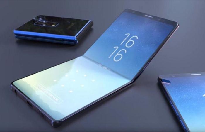 Гибкий смартфон от китайской компании.