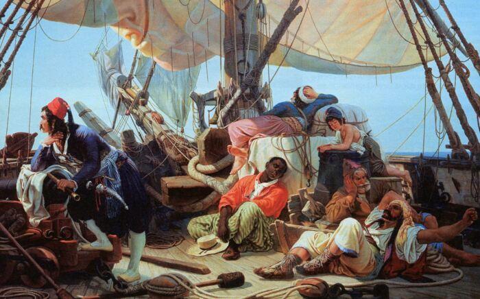 Чаще всего у кораблей просто не было времени на ловлю рыбы. |Фото: kakprosto.ru.
