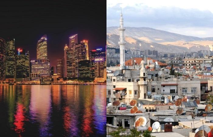Рекордсмены рейтинга Сингапур и Дамаск.