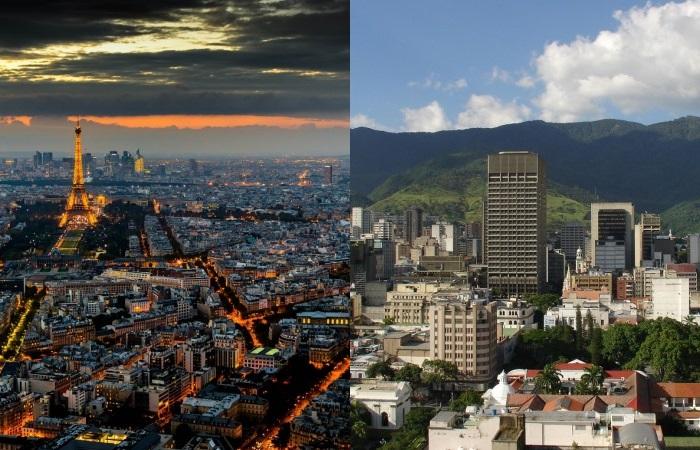 Традиционные места заняли Париж и Каракас.