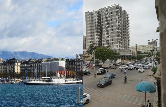 Такие разные во всем Женева и Карачи.