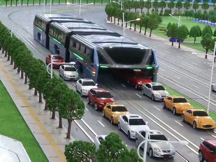 «Портальный автобус» Transit Elevated Bus.