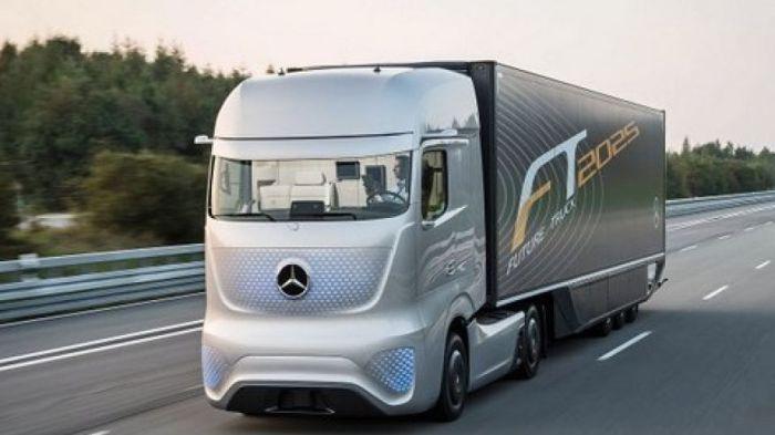 Концептуальный тягач M-Benz Future Truck 2025.