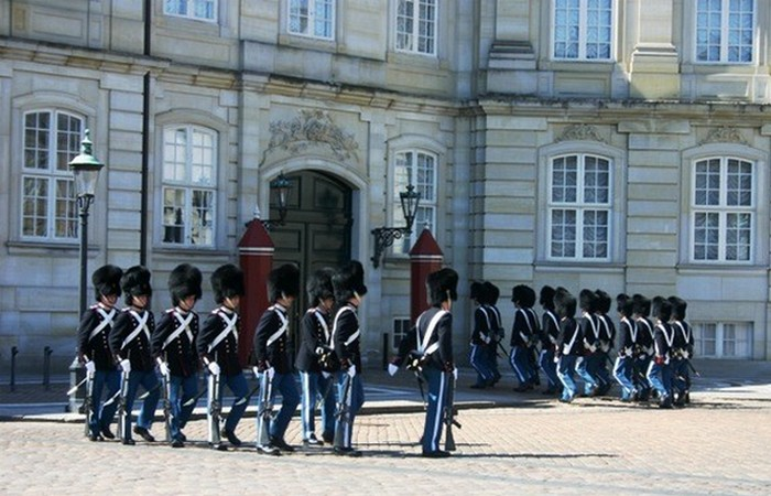 Смена караула в Копенгагене.