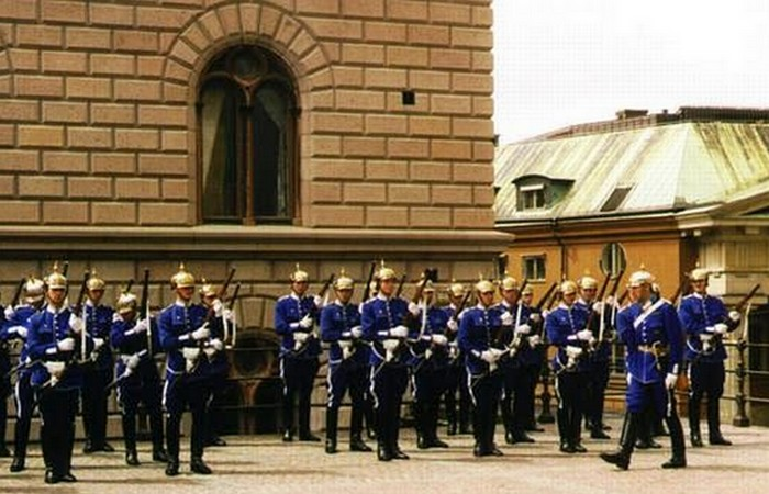 Смена караула в Стокгольме.
