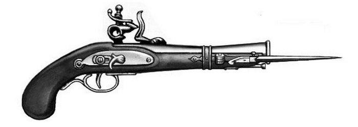 Грузинский пистолет-нож с подпружиненным лезвием.