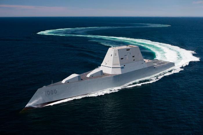 Эсминец USS Zumwalt.
