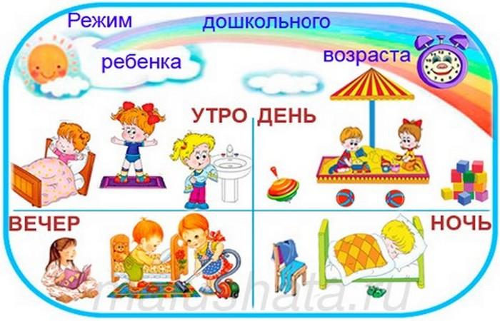 картинки с изображением детей в разное время суток