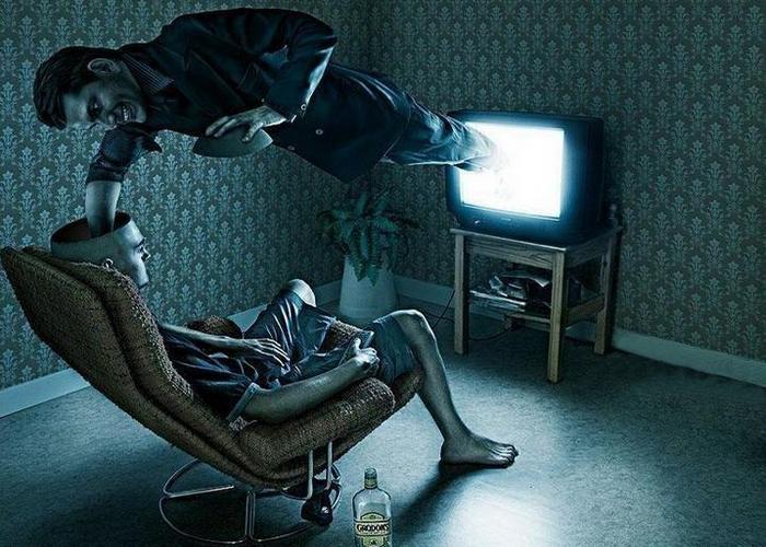 Телевидение приводит к большему употреблению алкоголя.