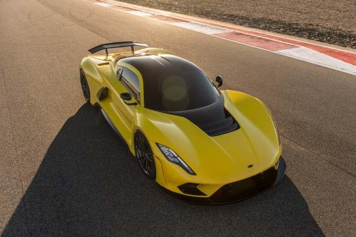 Автомобиль, который в очередной раз побил абсолютный рекорд скорости.