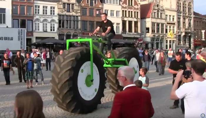 Самый тяжелый в мире функциональный велосипед.