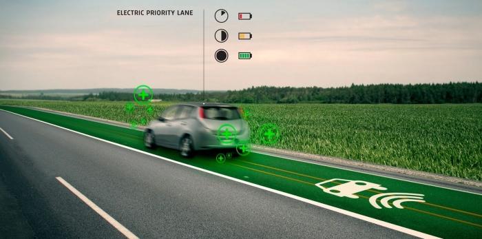 Полосы только для электромобилей.