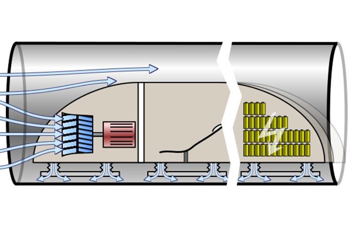 Принцип работы Hyperloop.