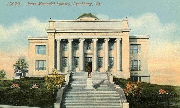 Открытка с видом на библиотеку.