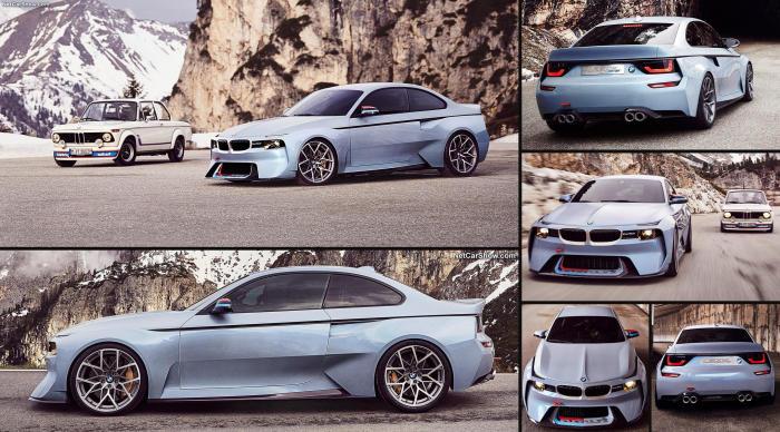 BMW 2002 Hommage - легендарный автомобили серии М.