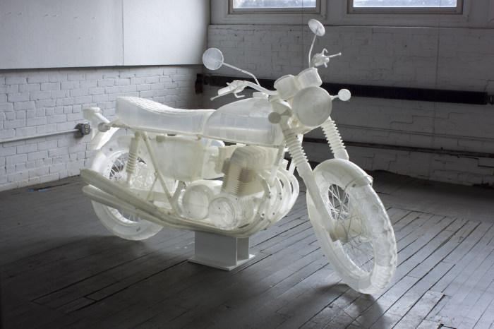 Мотоцикл Honda CB500, отпечатанный на 3D-принтере.