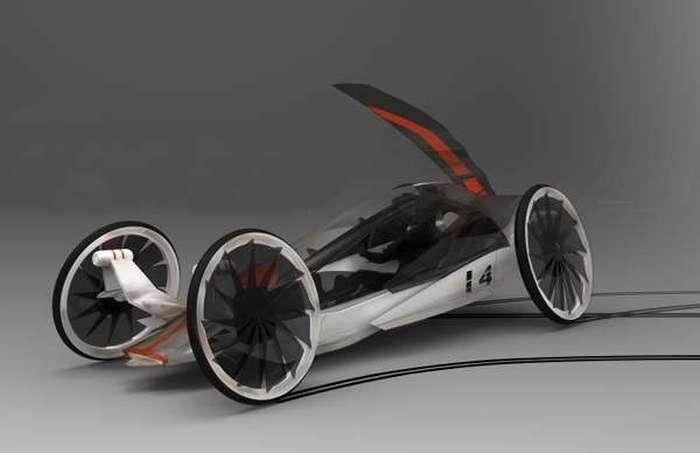 Автомобиль-парусник Kaze Honda.