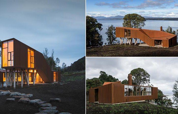 Дом на озере Рупанко в чилийской Патагонии.