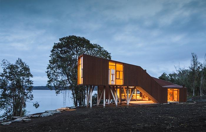Дом от студии Aguilo + Pedraza Arquitectos.