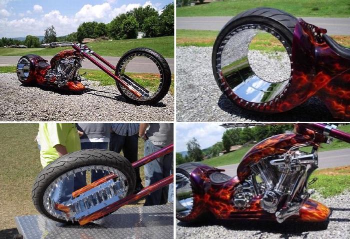 HUBLESS MONSTER CHOPPER - байк со странными колёсами.