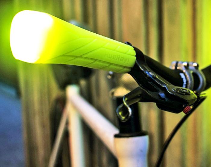 Светящаяся ручка для велоруля.