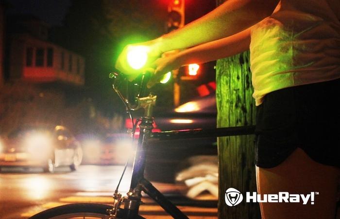 HueRay - светящиеся велосипедные ручки.