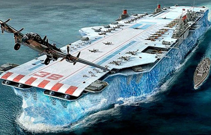 Непотопляемый британский ледяной авианосец Аввакум.